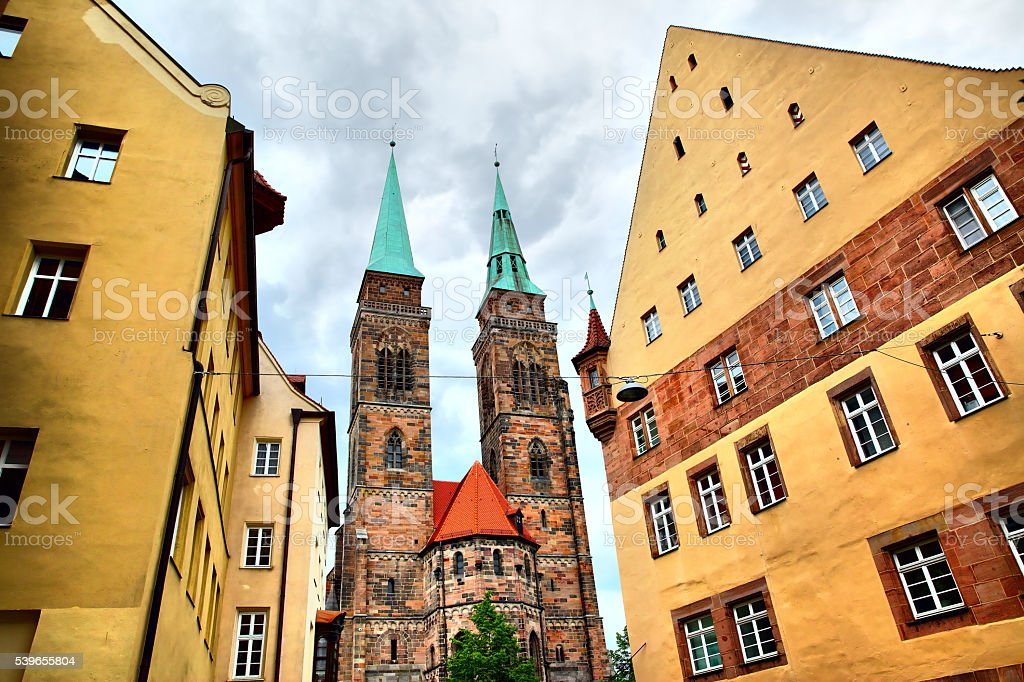 Holy Sebaldus Church in Nuremberg stock photo