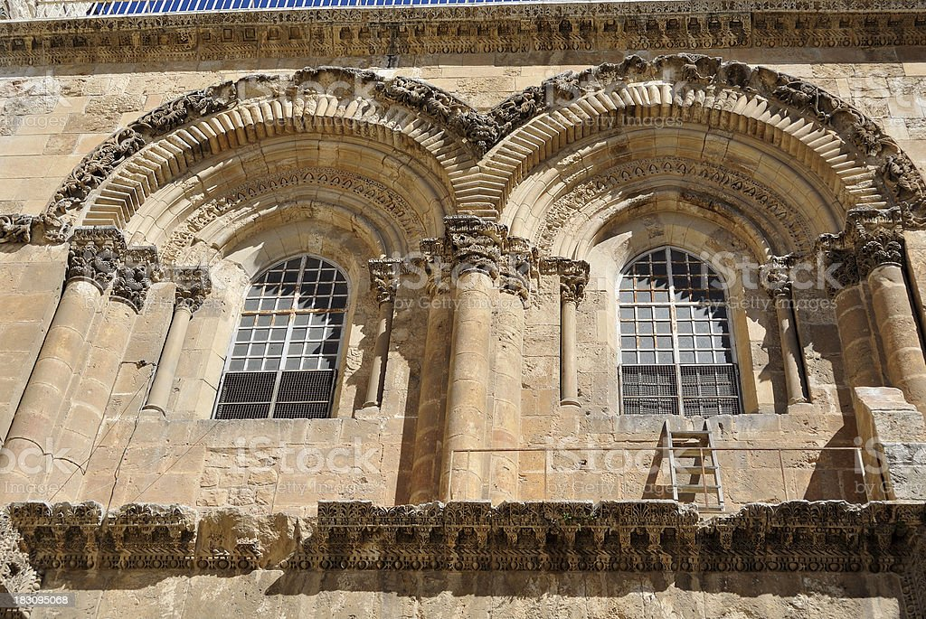 Holy Sepulchre Church facade, Jerusalem stock photo