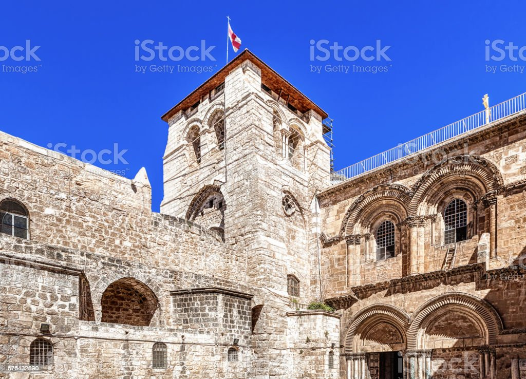 Holy Sepulchre in Jerusalem stock photo