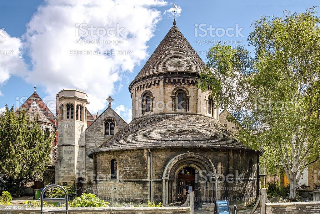 Holy Sepulchre Round Church in Cambridge stock photo