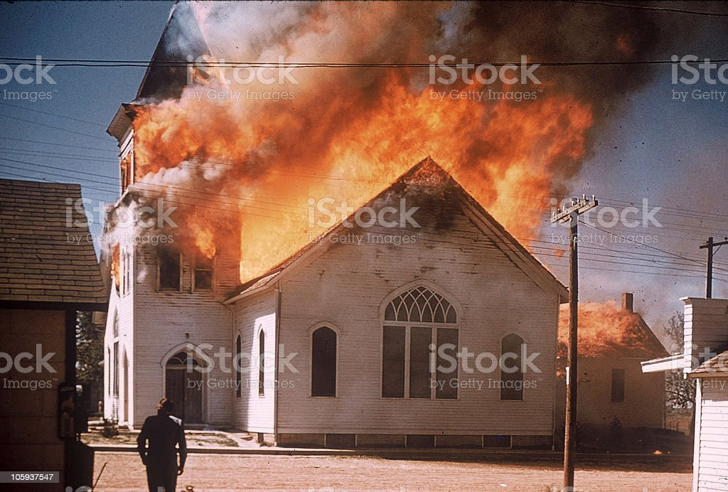 Holy Smoke! stock photo