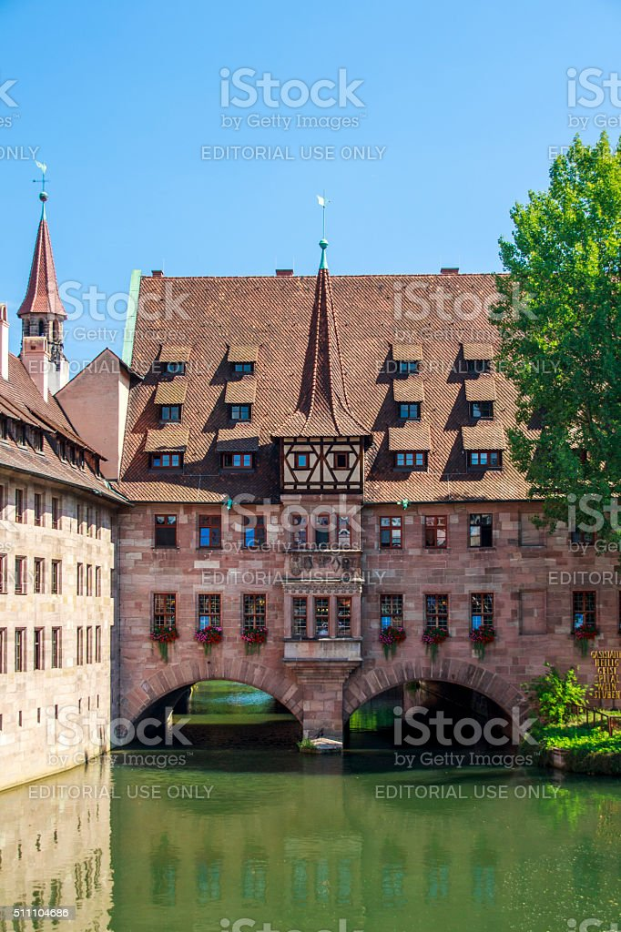 Heilig Geist Spital in Nuremberg, Germany, 2015 stock photo