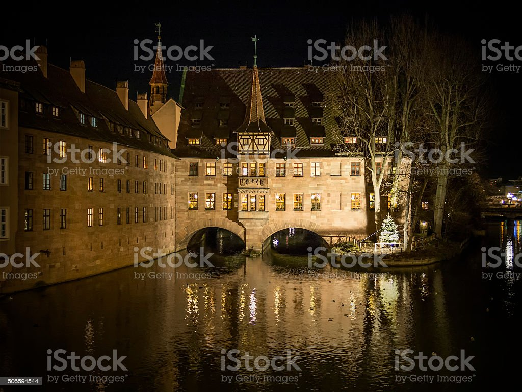 Heilig Geist Spital Nuremberg Germany stock photo