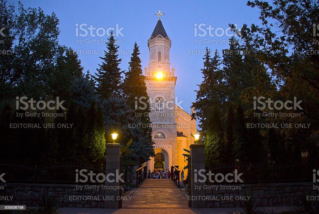 Holy Transfiguration Orthodox Cathedral, Trebinje stock photo