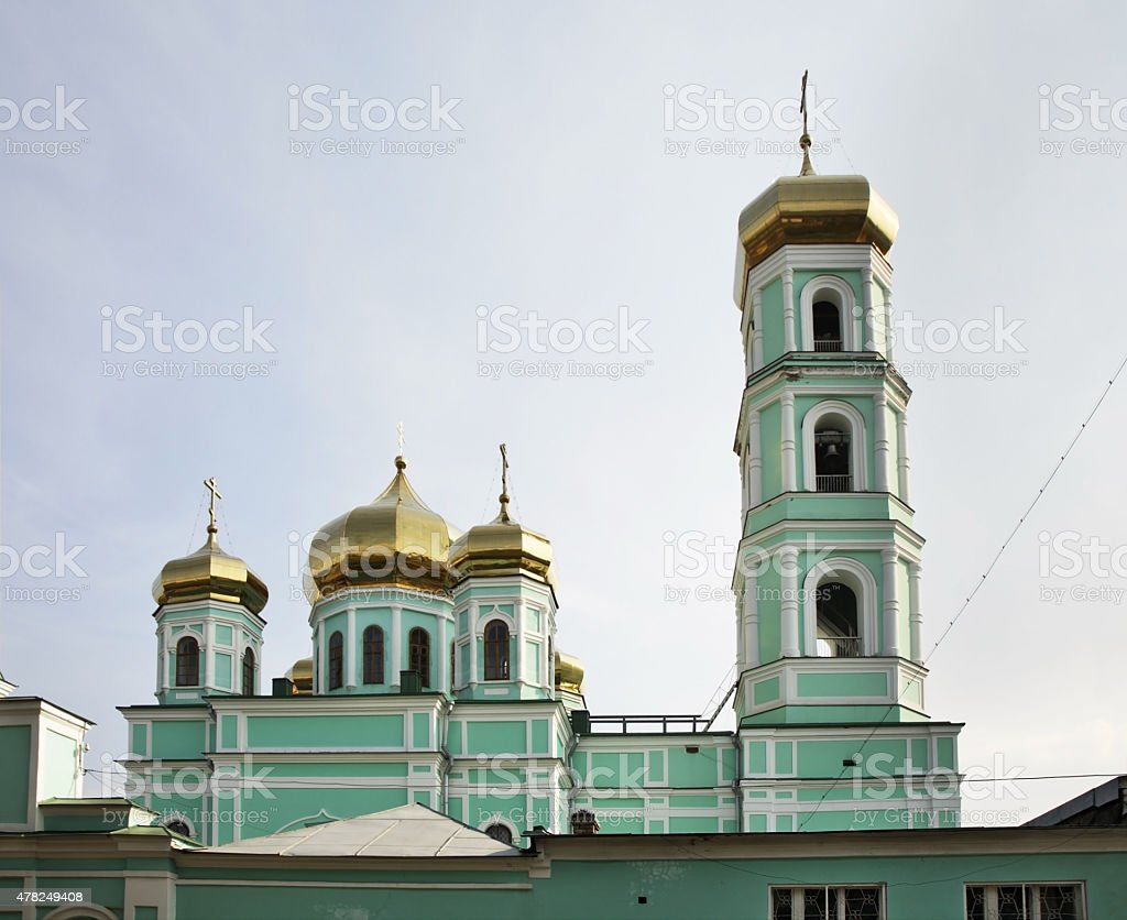 Holy Trinity Cathedral in Perm. Russia stock photo