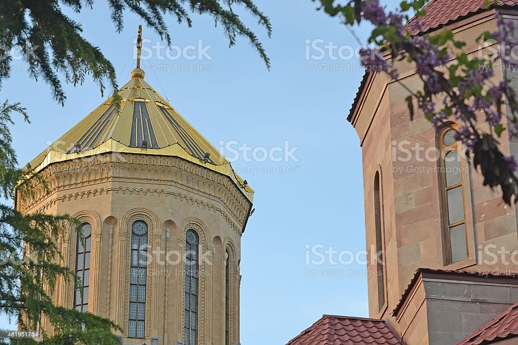 Holy Trinity Cathedral of Tbilisi stock photo