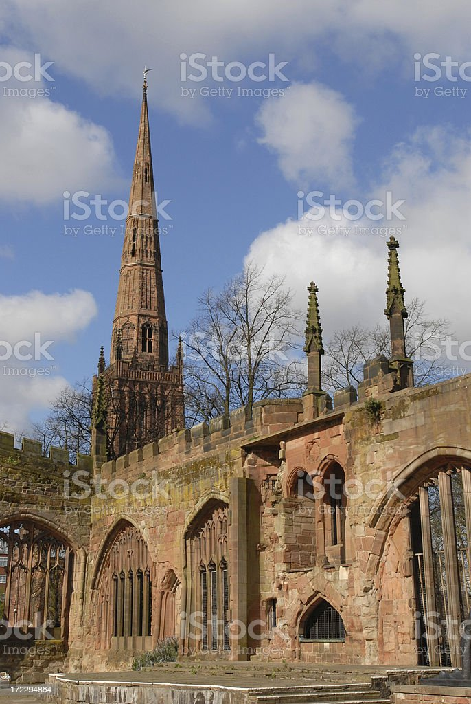 Holy Trinity Church and Cathedral, Coventry stock photo