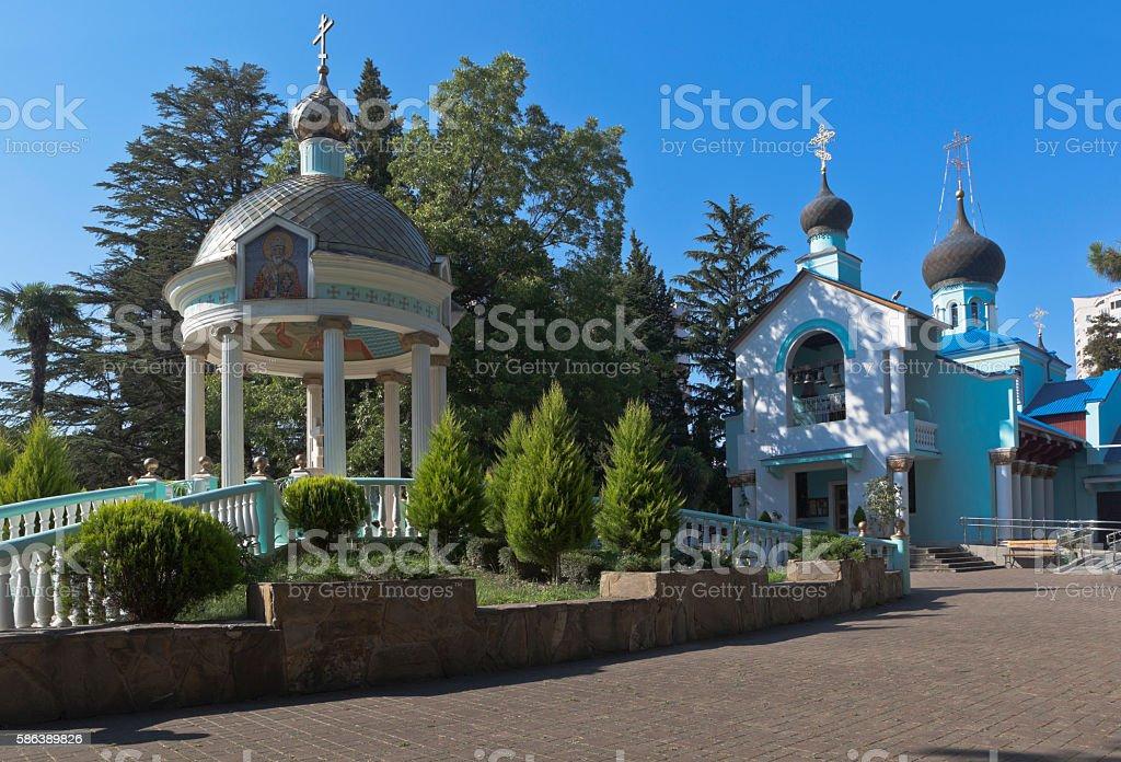 Holy Trinity Church in Adler, Sochi, Krasnodar region, Russia stock photo