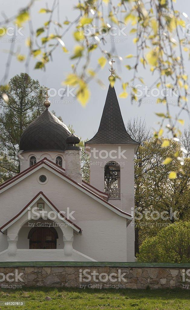 Holy Trinity church in Bjochovo stock photo