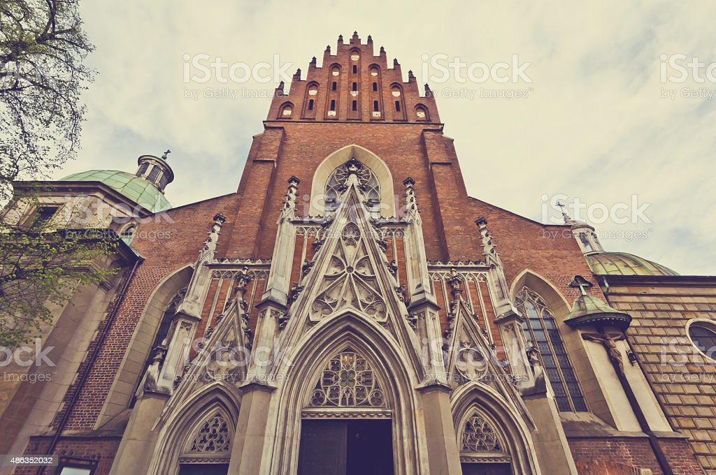 Holy Trinity Church in Cracow stock photo