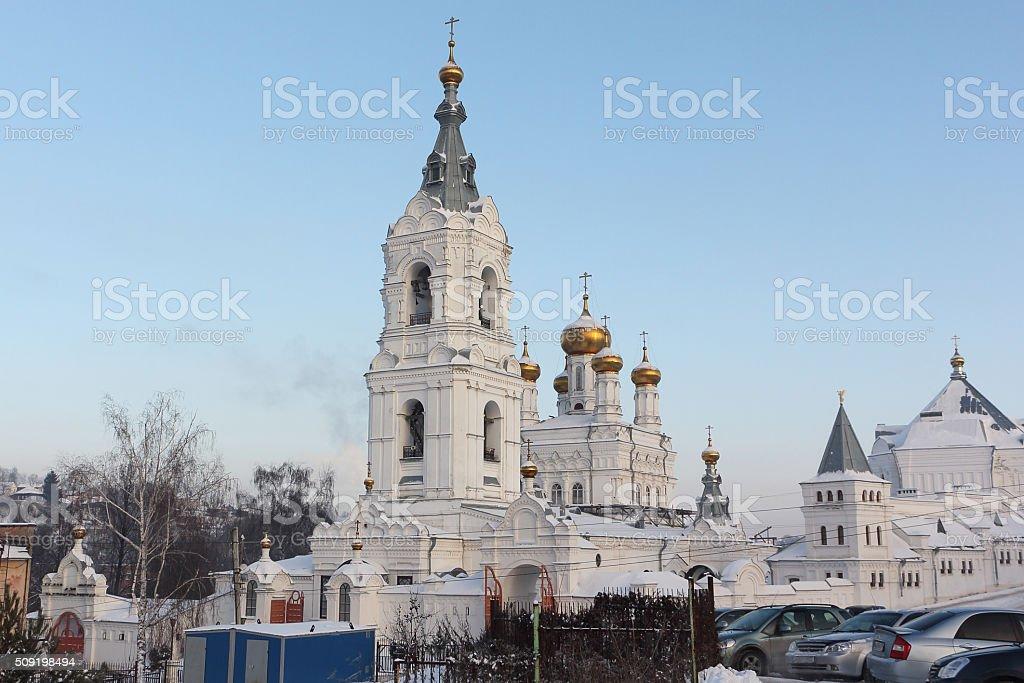 Holy Trinity Church in Holy Trinity monastery Stefan , Russia, Perm stock photo