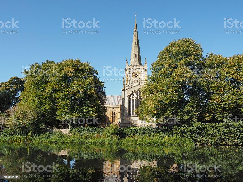 Holy Trinity church in Stratford upon Avon stock photo