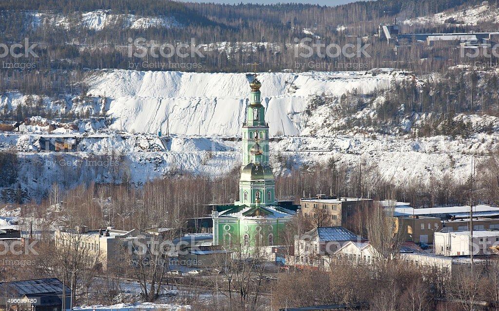 Holy Trinity Church of Common Faith. Nizhny Tagil. Russia. stock photo