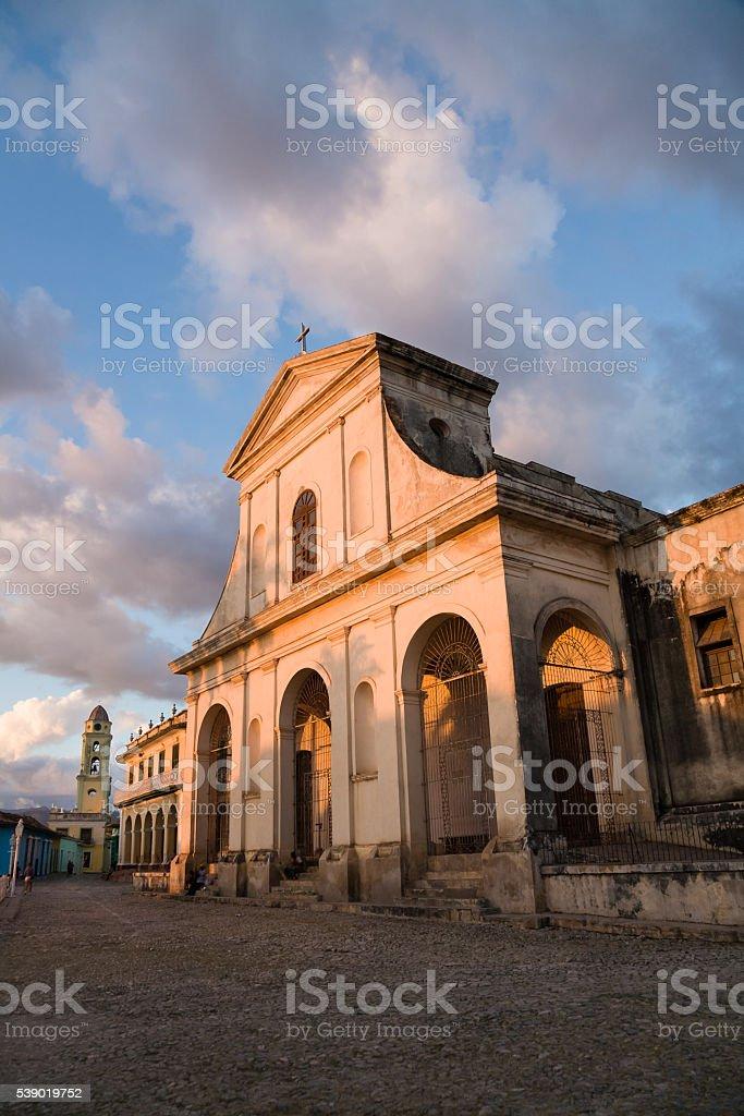 Holy Trinity church, Trinidad, Cuba stock photo