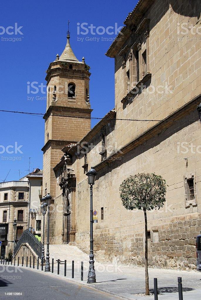 Holy Trinity church, Ubeda, Spain. stock photo