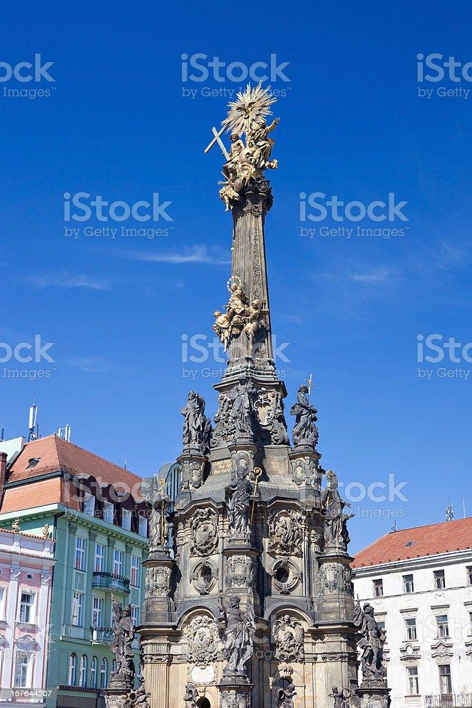 Holy Trinity Column In Olomouc, Czech Republic stock photo