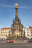 Holy Trinity Column in the old town of Olomouc.