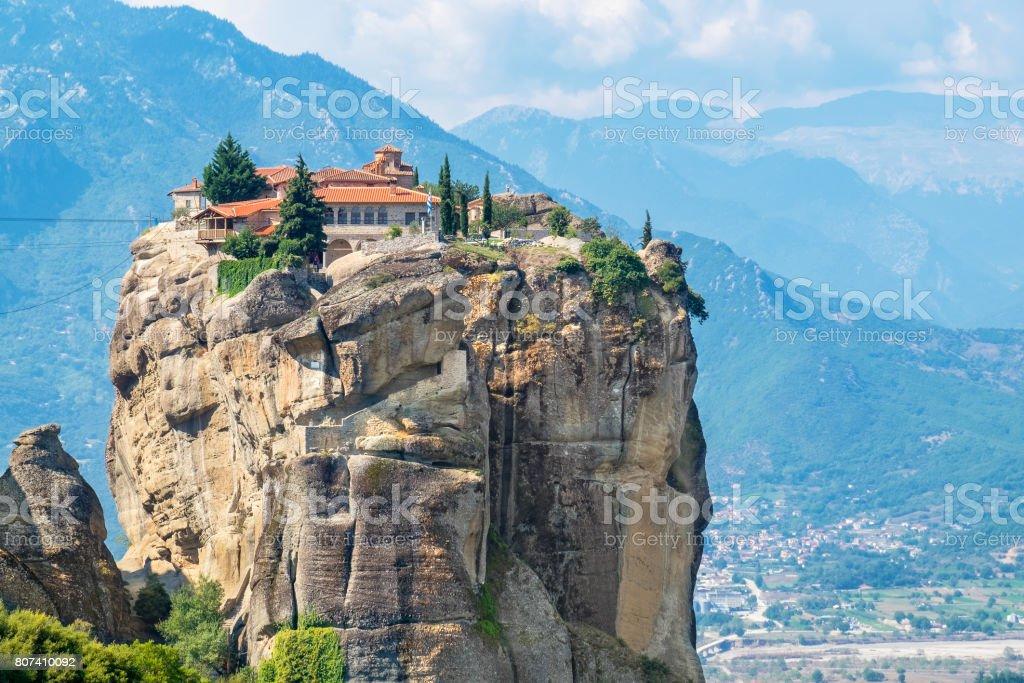 Holy Trinity Monastery. Meteora, Greece stock photo