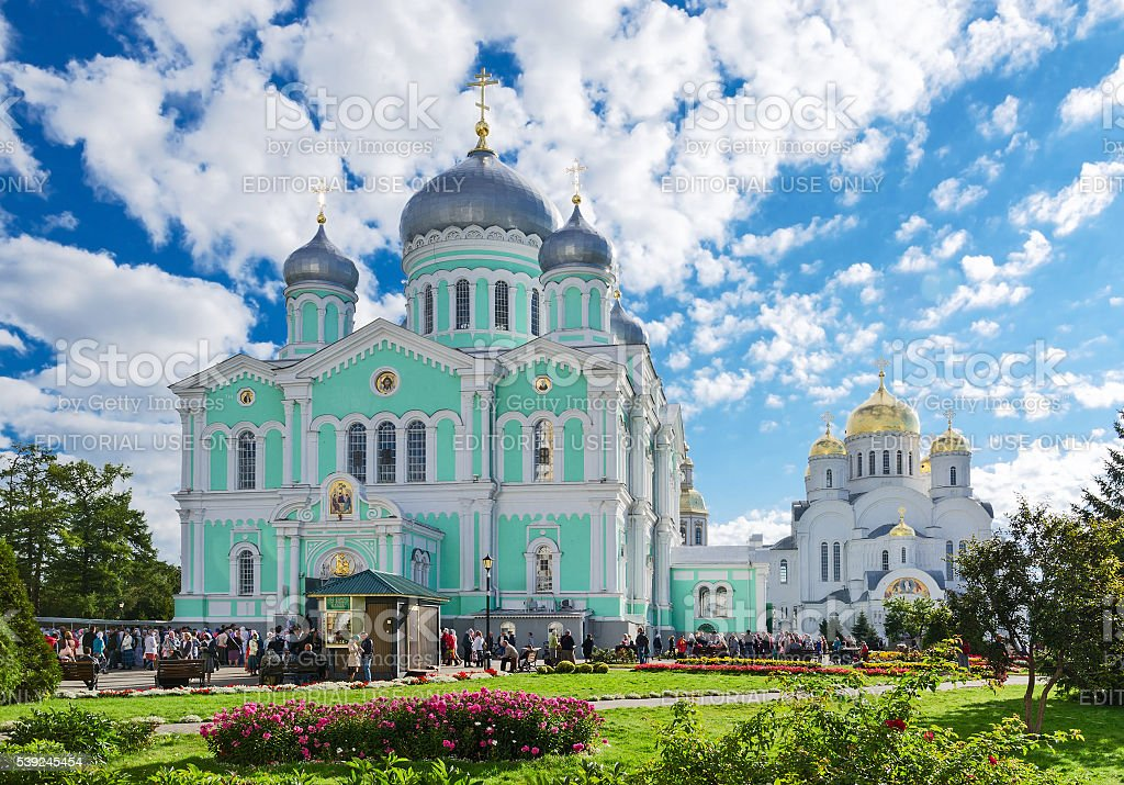 Holy Trinity Seraphim-Diveevo convent, village of Diveevo, Russia stock photo