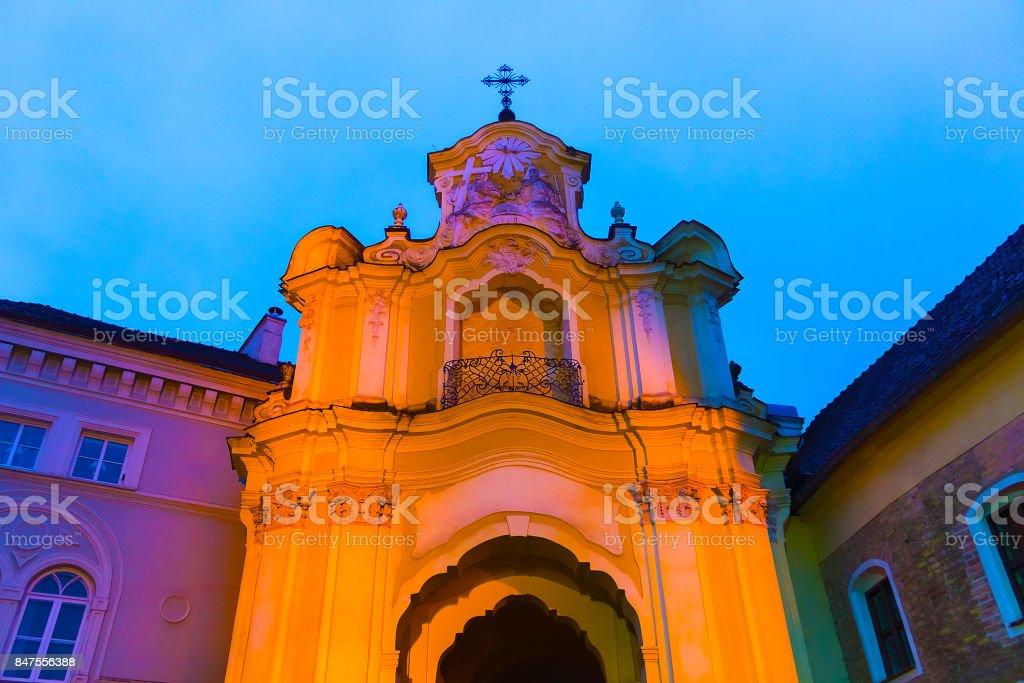Holy Trinity Uniate church in Vilnius. Lithuania stock photo