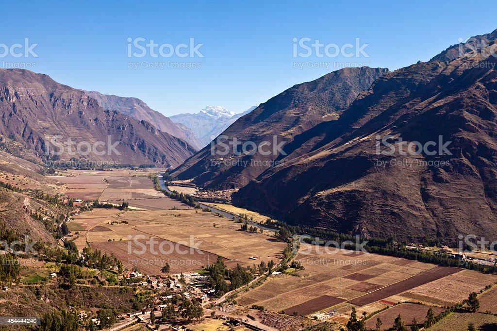 holy valley of the Inkas stock photo