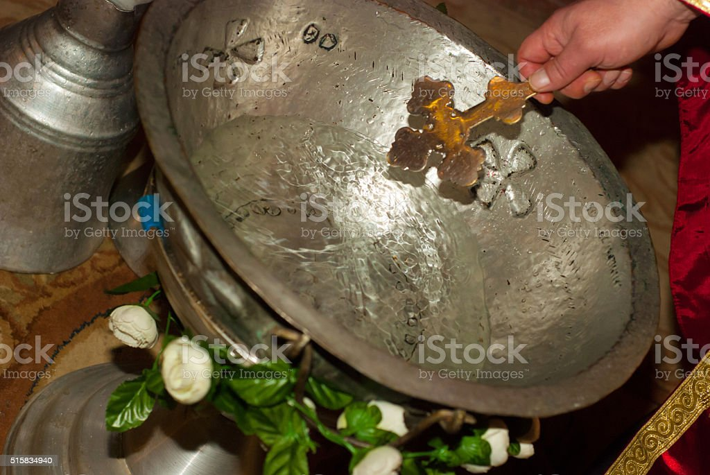 holy water stock photo