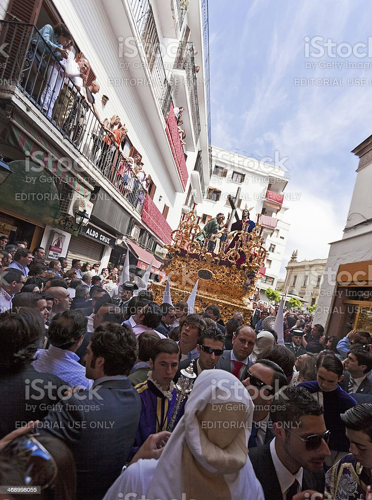 Holy Week celebrations in Seville royalty-free stock photo
