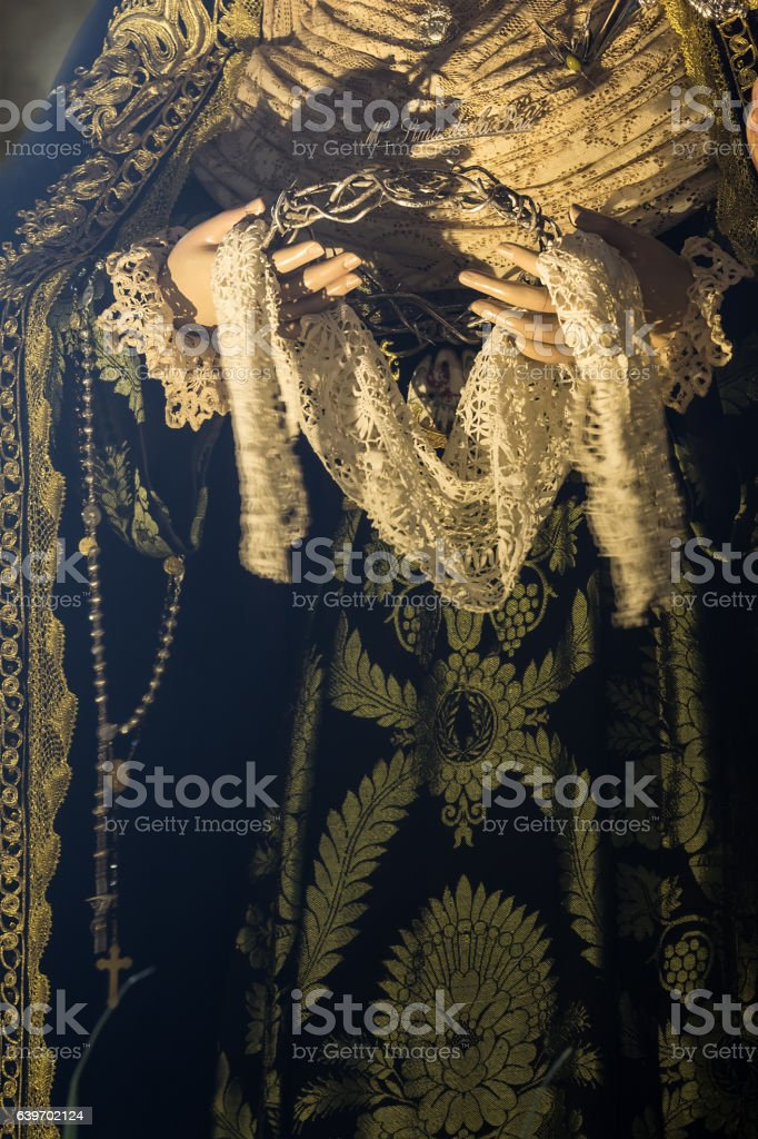 Holy week in Cadiz, Spain. Holy Mary of the Peace. stock photo