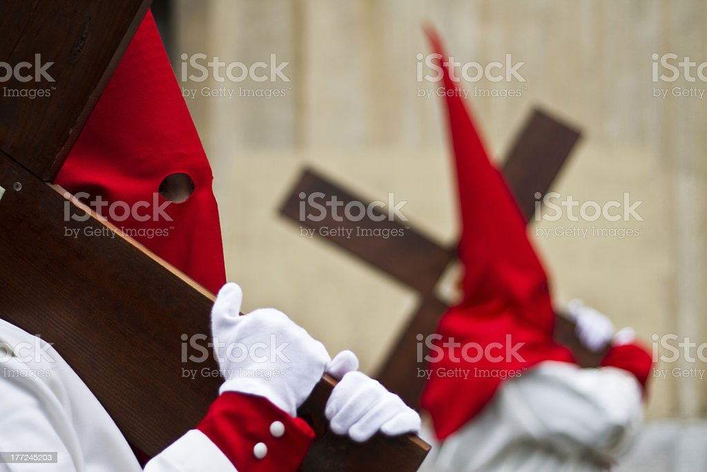 Holy week in Guadalajara - Spain stock photo