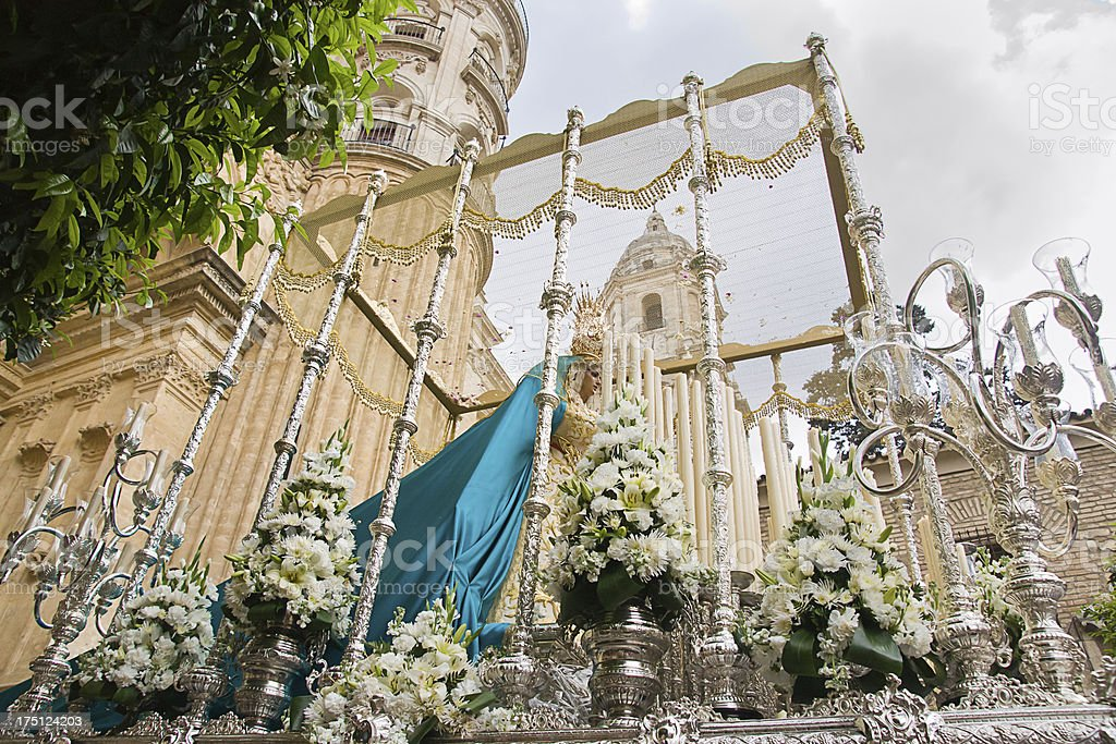 holy week in Malaga, Spain. Dulce Nombre procession royalty-free stock photo