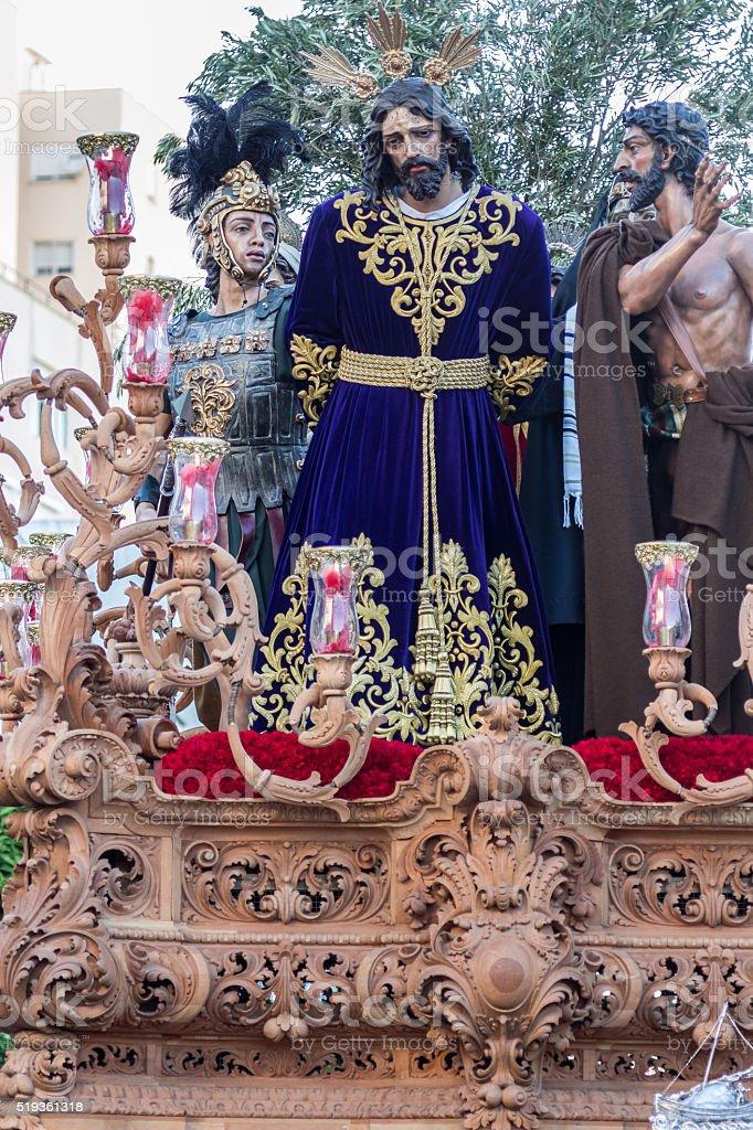 Holy Week in San Fernando, Cadiz, Spain. Our Father Jesus. stock photo