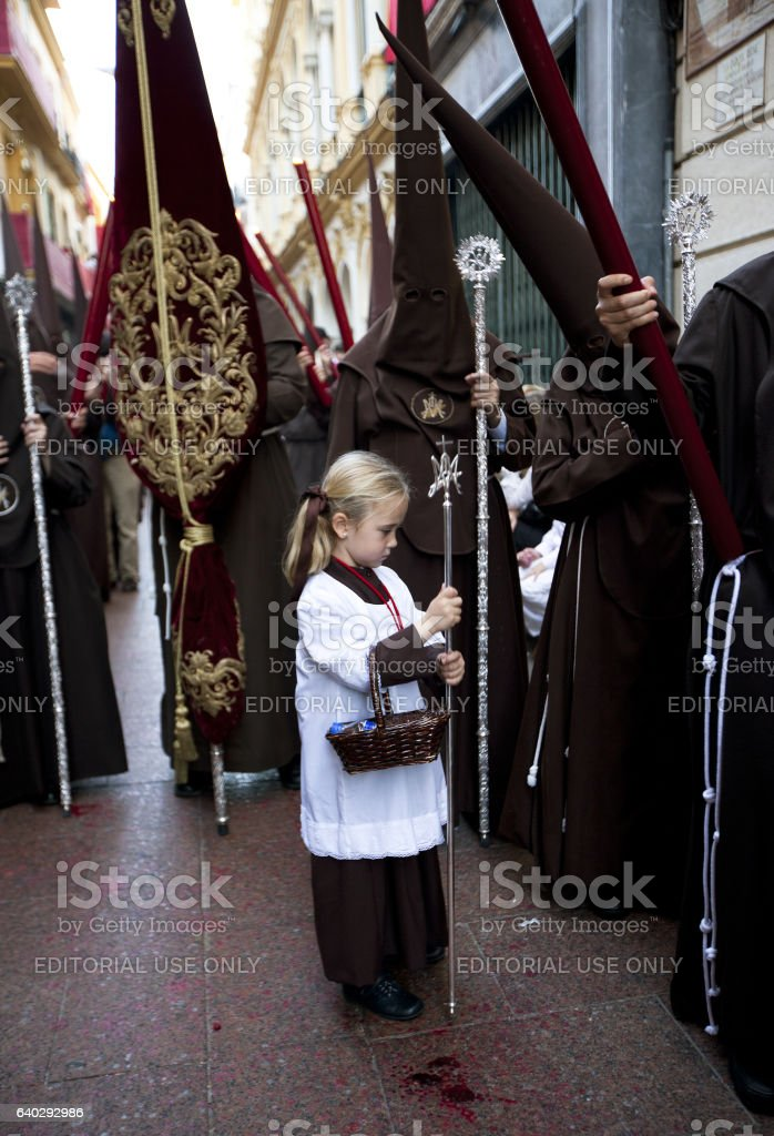 Holy Week in Sevilla stock photo
