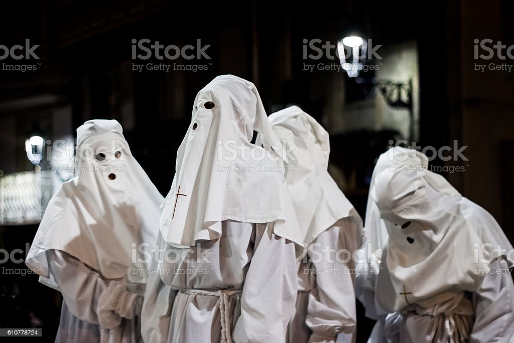 Holy week nazarene's, Spain stock photo