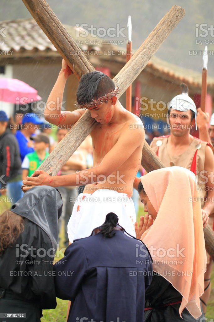 Holy Week Procession in Seboruco stock photo