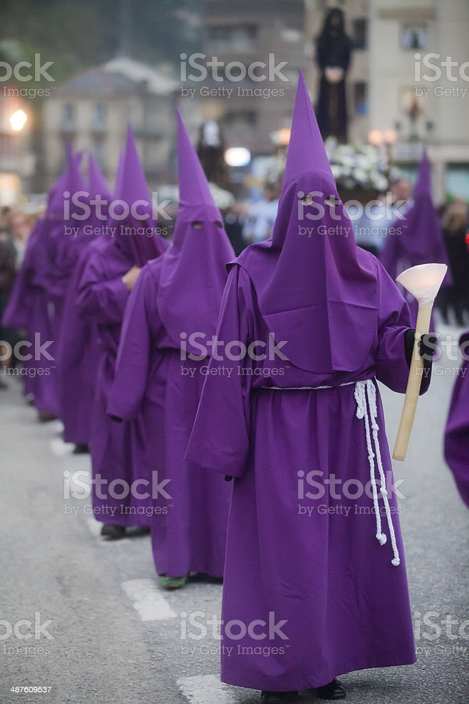 Holy Week procession stock photo