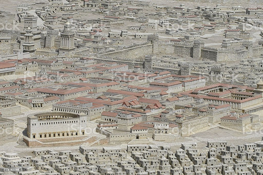 Holyland model of Jerusalem royalty-free stock photo
