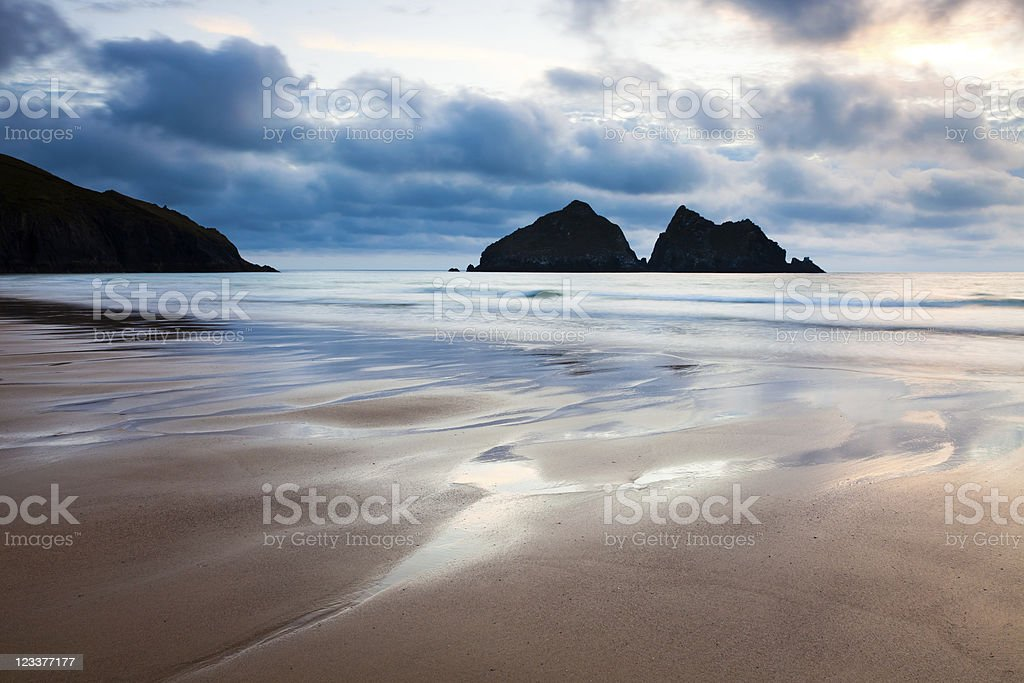 Holywell Bay photo libre de droits