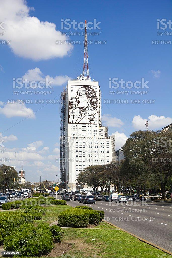 homage to Evita Peron stock photo