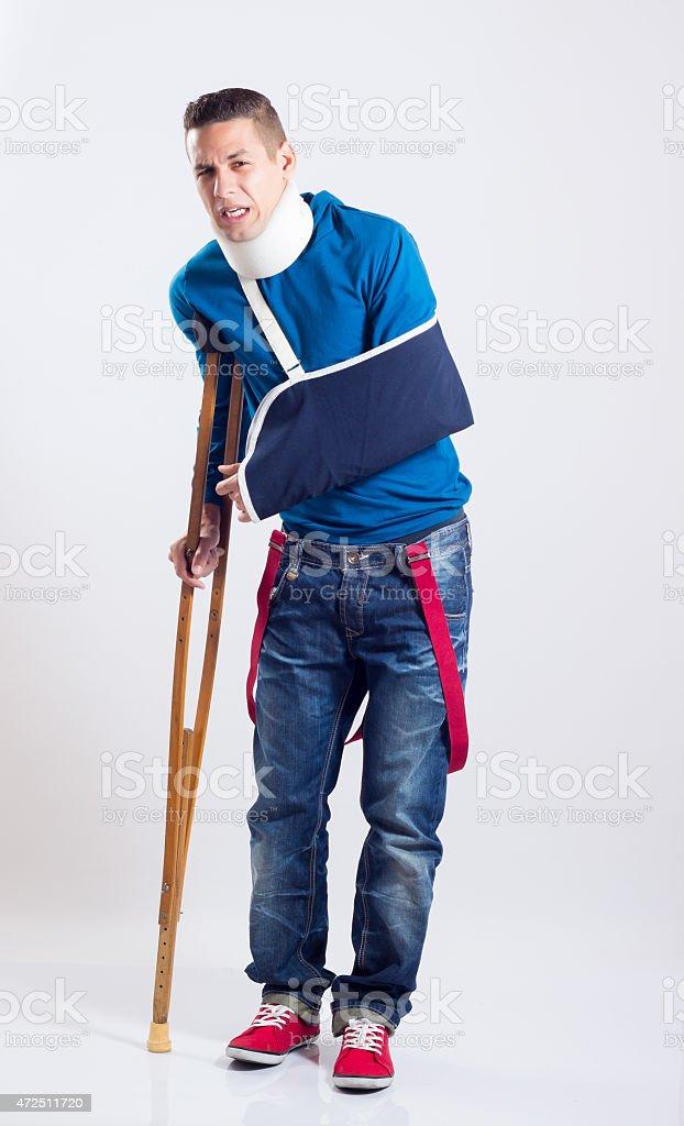 Hombre Lesionado stock photo
