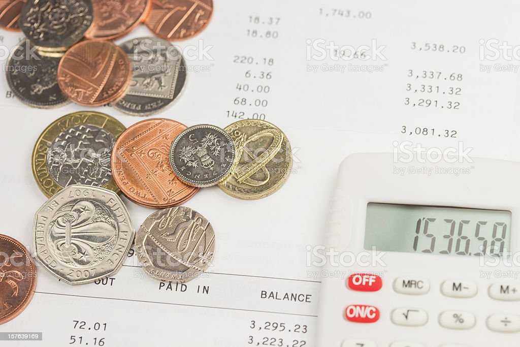 Home Accounts And Petty Cash royalty-free stock photo