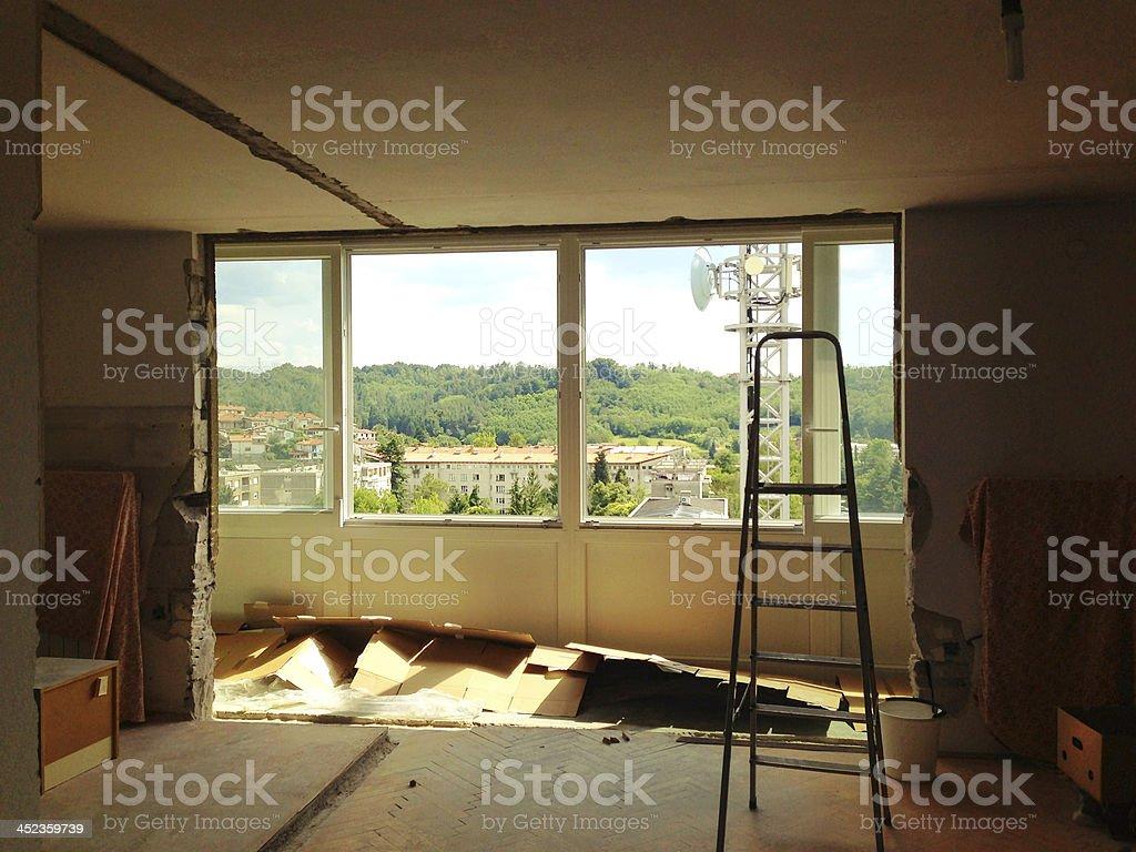 Home Addition in Nova Gorica Slovenia royalty-free stock photo