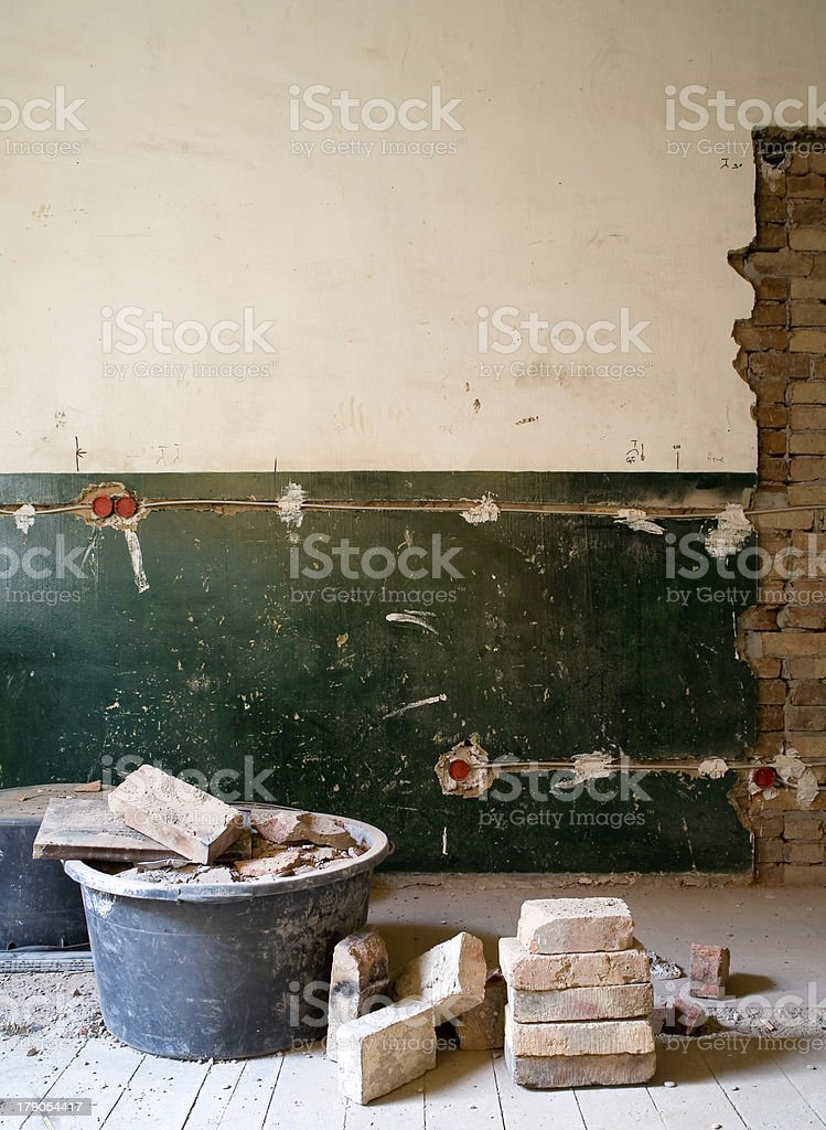 home addition in old room royalty-free stock photo