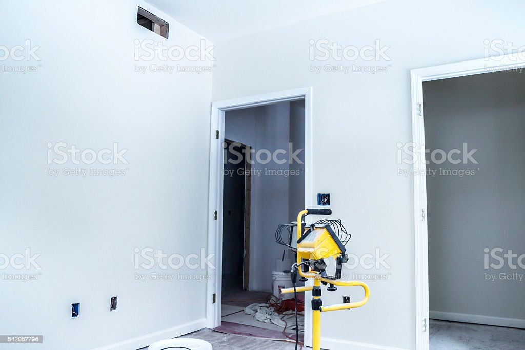Home Addition Interior Rooms Generic Construction In Progress stock photo