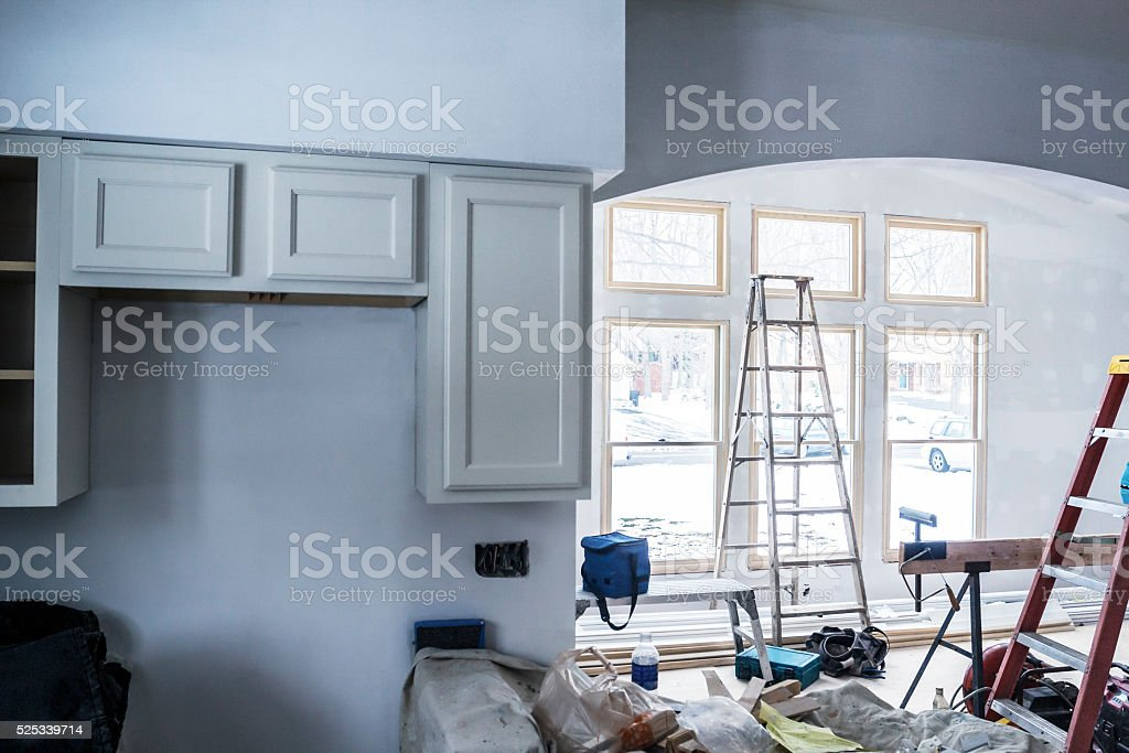 Home Addition New In-Law Apartment Construction stock photo