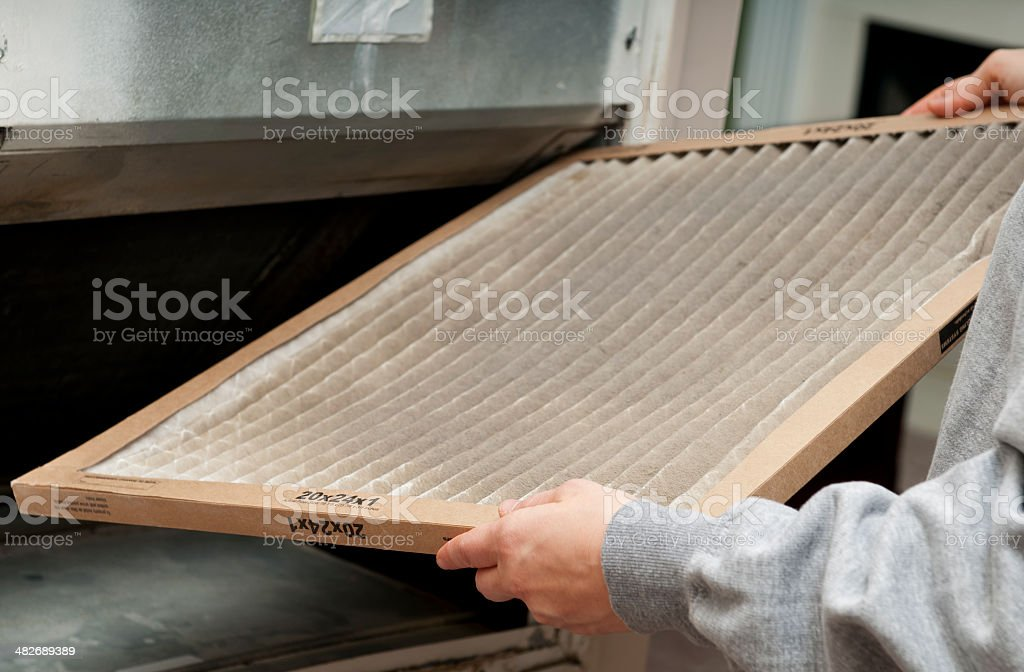 Home Air Filter stock photo