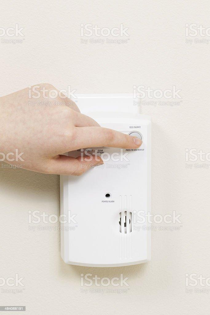 Home Alarm Detector for Carbon Monoxide Gas stock photo