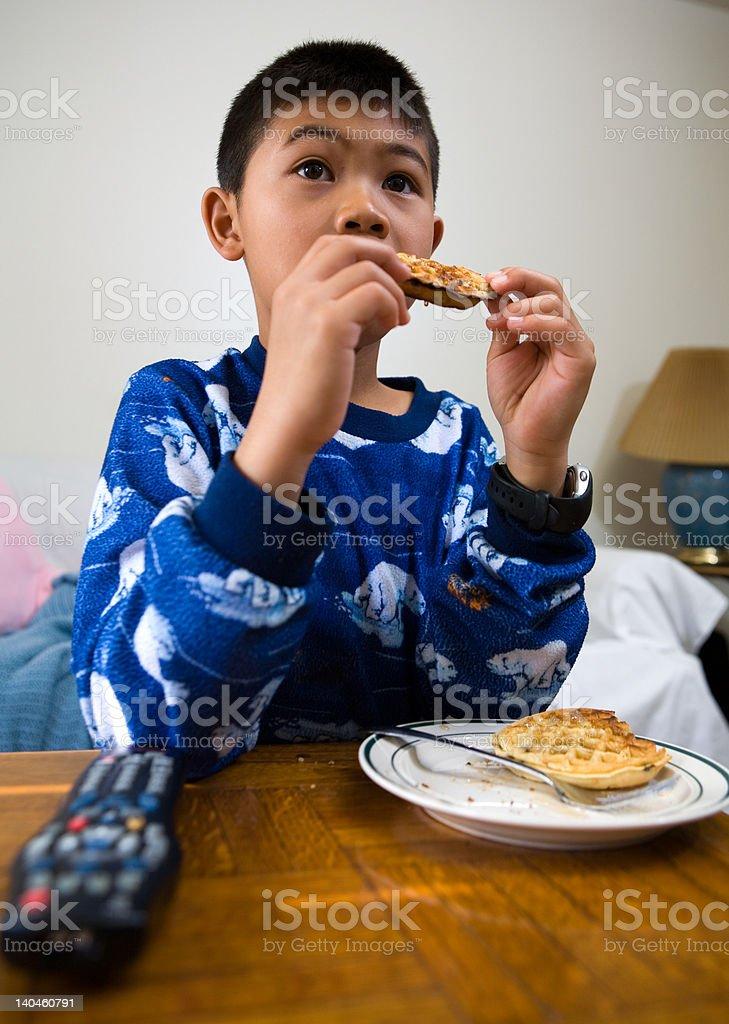 Home alone stock photo
