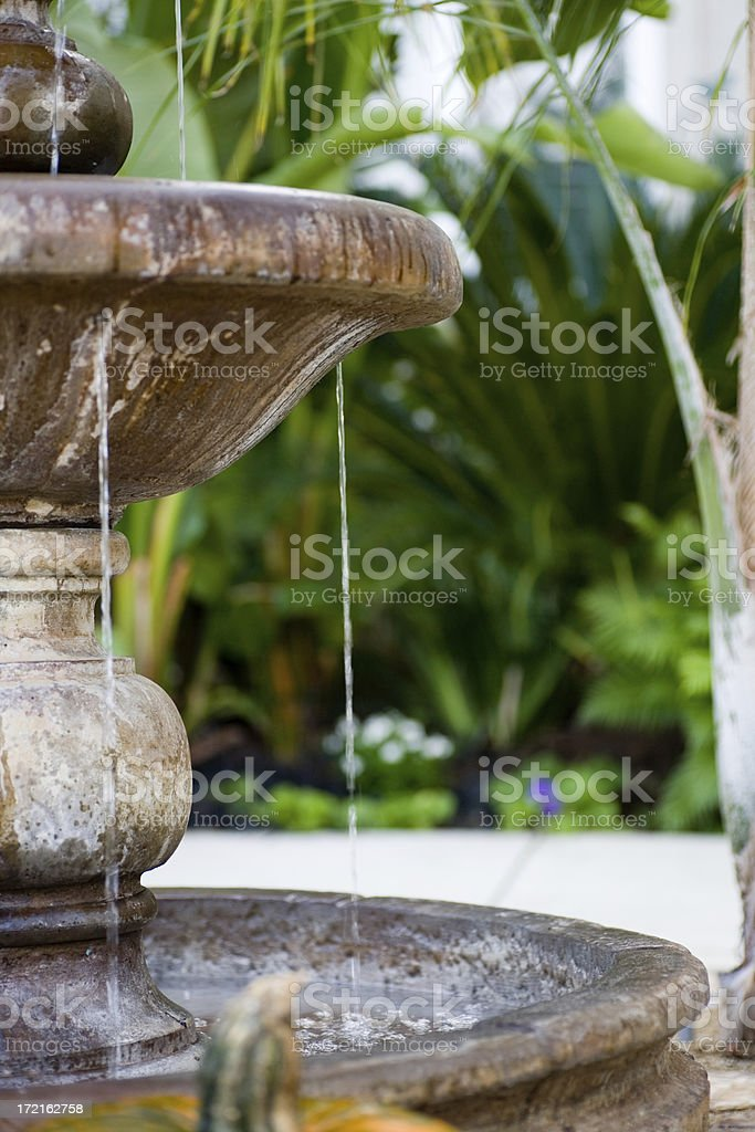 Home and Garden Fountain royalty-free stock photo