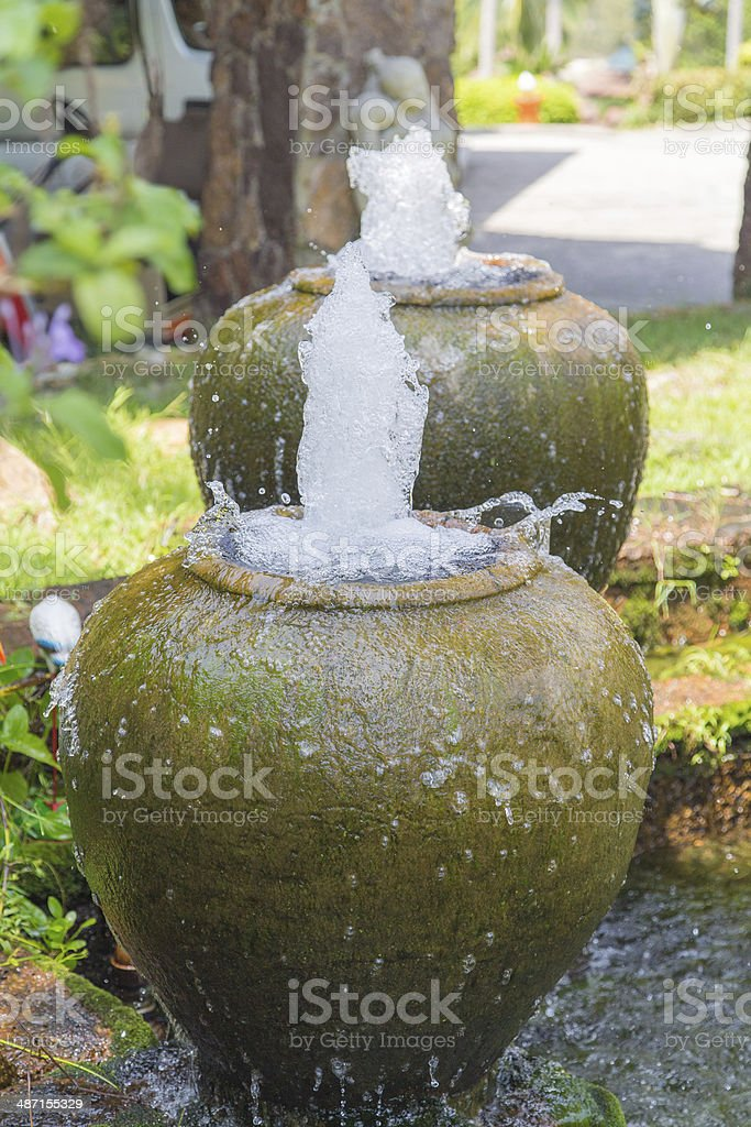 Home and Garden Fountain stock photo
