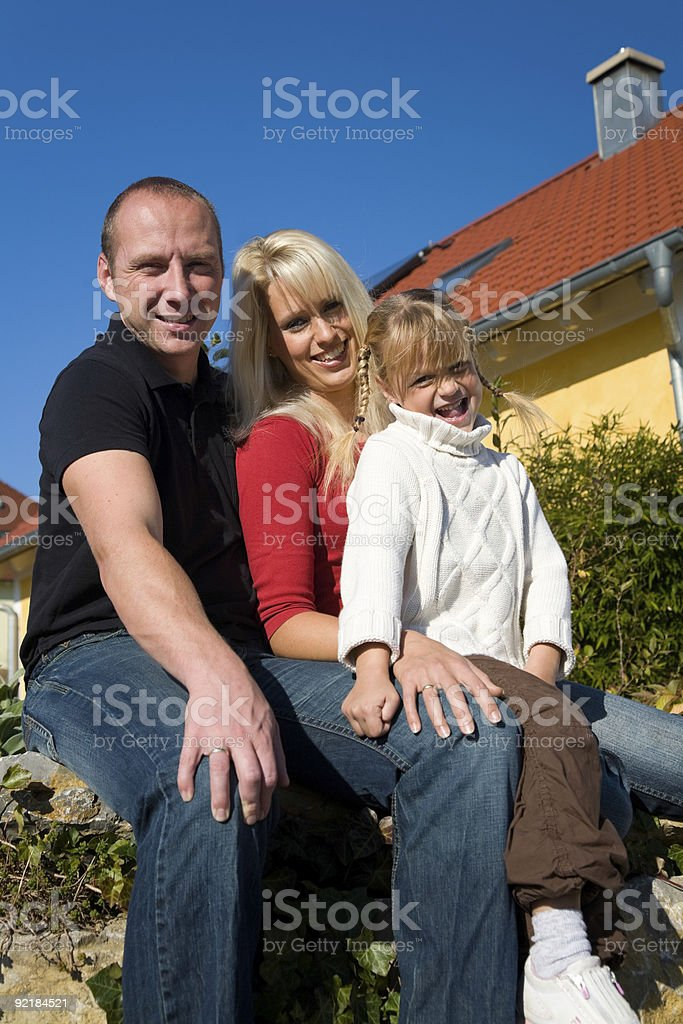 Home and sun royalty-free stock photo